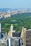 Aerial View of Central Park Royalty Free Stock Images