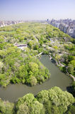 Aerial view of Central Park in spring near Columbus Circle in Manhattan, New York City, New York Royalty Free Stock Photography