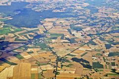 Aerial view - Central Poland Royalty Free Stock Photos