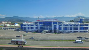 Aerial view of central station of Batumi stock video footage
