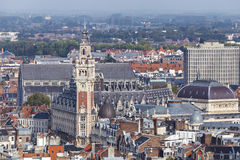 Aerial view on the centre of Lille, France Royalty Free Stock Images
