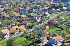 Aerial view of Cetinje, Montenegro Stock Images