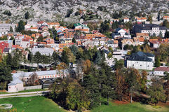 Aerial view of Cetinje, Montenegro Royalty Free Stock Photos