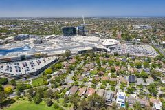 Aerial view of Chadstone Shopping Centre stock photos