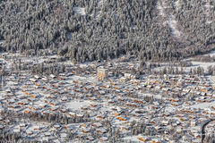 Aerial view of Chamonix Mont Blanc, France Stock Photography