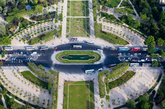 Aerial view on Champ de Mars Royalty Free Stock Image