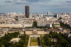 Aerial View on Champ de Mars from the Eiffel Tower, Paris Royalty Free Stock Photography