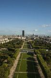 Aerial View on Champ de Mars Royalty Free Stock Images