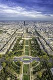 Aerial View on Champ de Mars and Invalides in Paris Royalty Free Stock Photo