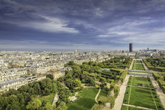 Aerial View on Champ de Mars and Invalides in Paris, France Stock Photos