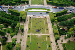 Aerial view of the Champ de Mars in Paris Royalty Free Stock Photography