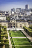 Aerial View on Champ de Mars in Paris Royalty Free Stock Image