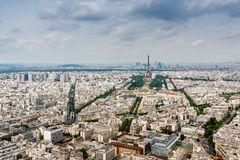 Aerial View on Champs de Mars and Eiffel Tower, Paris Stock Photos