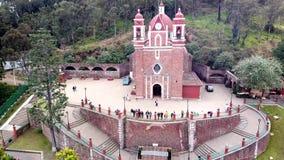 Aerial view of chapel of calvary Metepec mexico