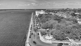 Aerial view of Charleston cityscape from the river, South Caroli. Na Royalty Free Stock Photography