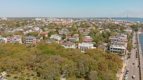 Aerial view of Charleston cityscape from the river, South Caroli. Na Royalty Free Stock Image