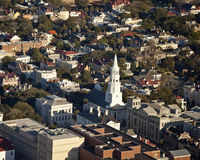 Aerial view of charleston sc royalty free stock image