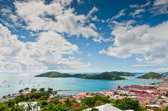 Aerial view of Charlotte Amalie Stock Images