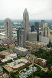 Aerial view of Charlotte, NC Stock Photo