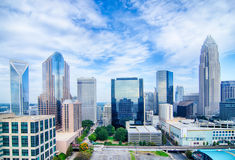 Aerial view of Charlotte North Carolina  skyline Royalty Free Stock Photo