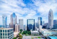 Aerial view of Charlotte North Carolina  skyline Royalty Free Stock Photo