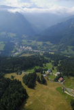 Aerial view of Chartreuse valley Stock Photo