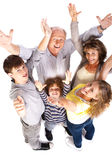 Aerial view of cheerful family Royalty Free Stock Photos