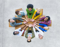 Aerial View Cheerful People Togetherness Support Unity Concept Royalty Free Stock Images