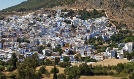Aerial view of Chefchaouen Royalty Free Stock Photography