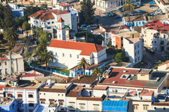 Aerial view of chefchaouen Royalty Free Stock Photos