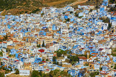 Aerial view of of Chefchaouen, Morocco Stock Image