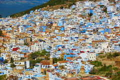 Aerial view of of Chefchaouen, Morocco Stock Photos