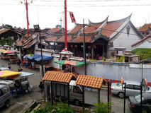 Aerial View of Cheng Hoon Teng Temple Melaka Royalty Free Stock Photography