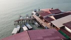 Aerial view Chew Jetty tourism spot no people