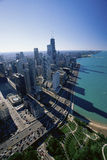Aerial view of Chicago Stock Image