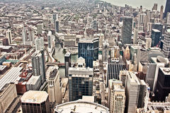 Aerial view of Chicago Stock Photos