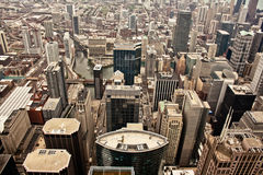 Aerial view of Chicago Stock Images