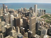 Aerial view of Chicago stock photo