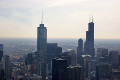Aerial view of Chicago Buildings stock image