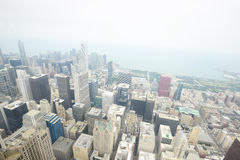Aerial view chicago Stock Images