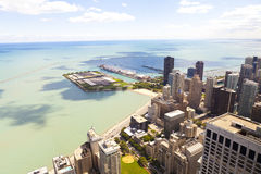 Aerial View (Chicago Downtown) Stock Images