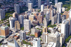Aerial View (Chicago Downtown) Stock Photo