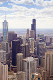 Aerial View (Chicago Downtown) Royalty Free Stock Photos