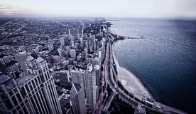 Aerial view of Chicago downtown Stock Photos