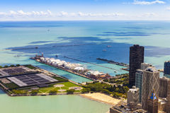 Aerial View (Chicago Downtown) Royalty Free Stock Image