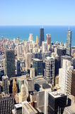 Aerial view of Chicago downtown Royalty Free Stock Photography