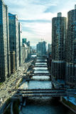 Aerial view of Chicago downtown in Illinois, USA.  Royalty Free Stock Photography