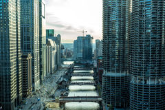 Aerial view of Chicago downtown in Illinois, USA Stock Image