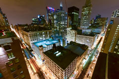 Aerial View of Chicago Elevated Trains Royalty Free Stock Photo