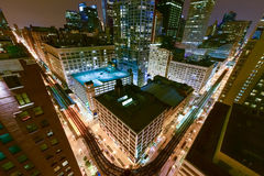 Aerial View of Chicago Elevated Trains Stock Images